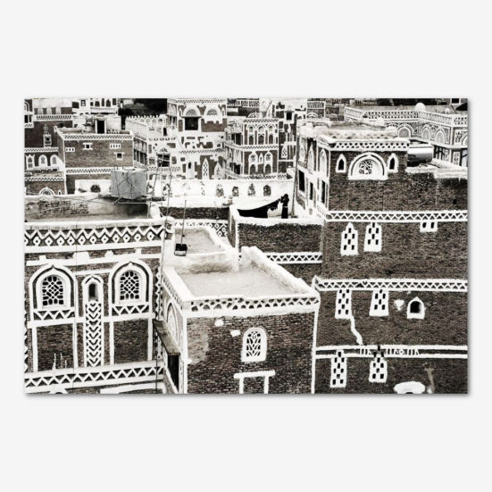 På taget i Sanaa. Foto Tine Harden.