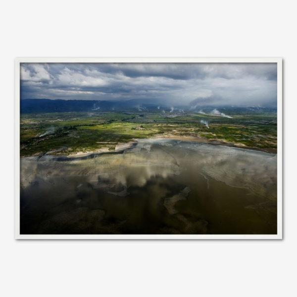 Haiti Flooding 2 - oversvømmet landskab. Foto Klaus Bo.