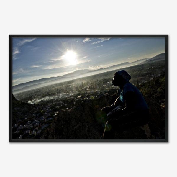Haiti Flloding 3 - den bedende på bjerget. Foto Klaus Bo.